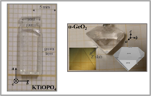 Different single crystals (GeO2 and KTP)