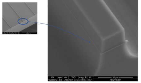 SEM pictures of KTP ridges