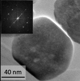 Images de microscopies eletroniques en transmission de nanocristaux de grenats d'yttrium